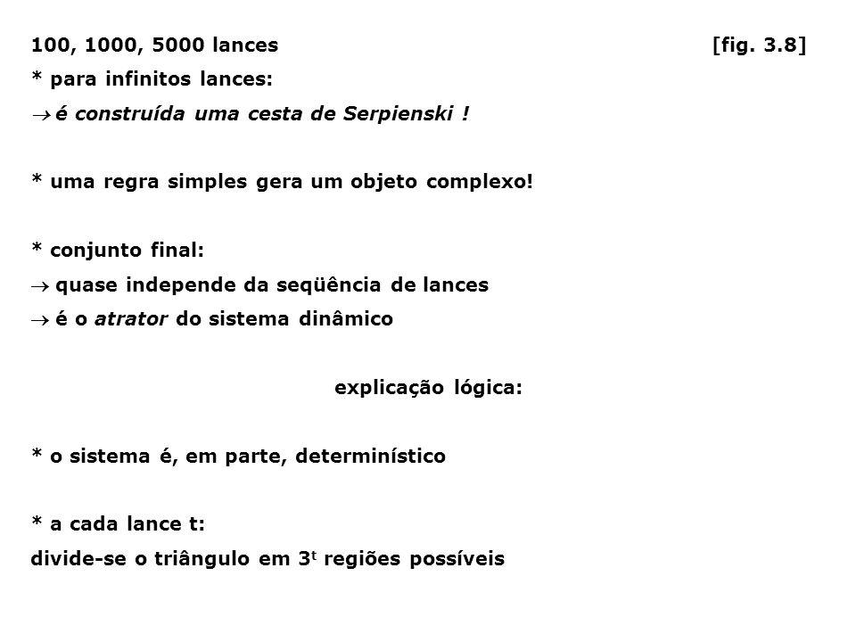 100, 1000, 5000 lances [fig. 3.8] * para infinitos lances: